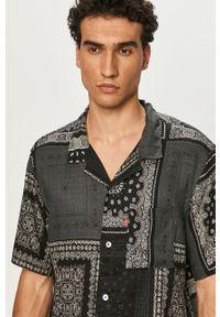 Czarna koszula Levi's® na spotkanie biznesowe, z klasycznym kołnierzykiem, casualowa, krótka