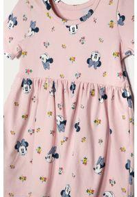 Różowa sukienka GAP rozkloszowana, mini