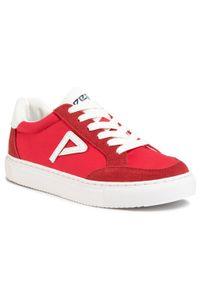 Czerwone półbuty Pepe Jeans z cholewką