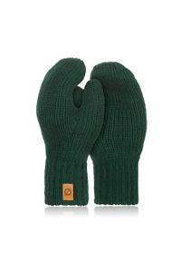 BRODRENE - Rękawiczki damskie zimowe r02 Brodrene R02 zielone. Kolor: zielony. Materiał: materiał. Sezon: zima