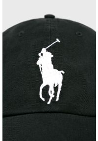 Czarna czapka z daszkiem Polo Ralph Lauren