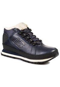 Niebieskie buty zimowe New Balance eleganckie, z cholewką