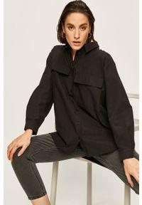 Czarna koszula ANSWEAR klasyczna, na co dzień, z klasycznym kołnierzykiem