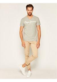 Pepe Jeans T-Shirt Original Stretch V PM500373 Szary Slim Fit. Kolor: szary
