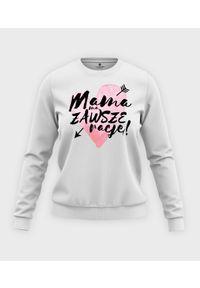 MegaKoszulki - Bluza klasyczna damska Mama ma zawsze rację. Materiał: bawełna. Długość: długie. Wzór: nadruk. Styl: klasyczny