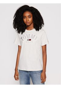 Tommy Jeans T-Shirt College Logo DW0DW09822 Szary Relaxed Fit. Kolor: szary