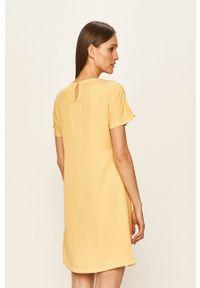 Vero Moda - Sukienka. Kolor: żółty