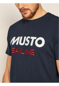 Musto T-Shirt 82020 Granatowy Regular Fit. Kolor: niebieski #3