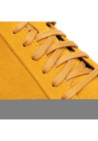 Żółte buty sportowe vagabond na co dzień, z cholewką