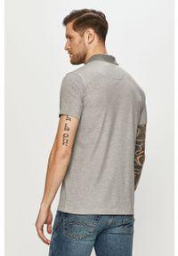 Szara koszulka polo Jack Wolfskin gładkie, polo, krótka, na co dzień