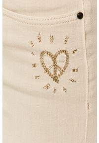 Beżowe spodnie materiałowe Desigual gładkie