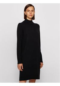 Czarna sukienka dzianinowa BOSS