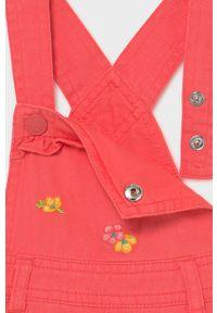Różowa sukienka Mayoral mini, casualowa, z aplikacjami, na co dzień