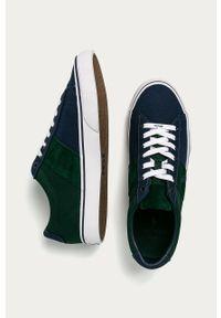 Zielone sneakersy Polo Ralph Lauren z cholewką, z okrągłym noskiem