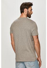 Wrangler - T-shirt (2-pack). Okazja: na co dzień. Kolor: szary. Materiał: materiał. Styl: casual