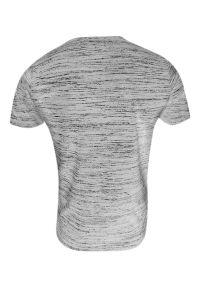Brave Soul - T-shirt Bawełniany Szary Melanżowy, Okrągły Dekolt, Krótki Rękaw, Koszulka Męska -BRAVE SOUL. Okazja: na co dzień. Kolor: szary. Materiał: bawełna, poliester. Długość rękawa: krótki rękaw. Długość: krótkie. Wzór: melanż. Sezon: lato, wiosna. Styl: casual