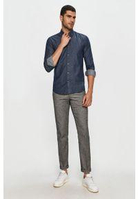 Niebieska koszula Only & Sons na co dzień, casualowa, button down, długa