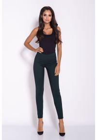 Zielone spodnie z wysokim stanem Dursi eleganckie