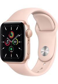 APPLE - Smartwatch Apple Watch SE GPS 40mm Gold Alu Pink Sport Różowy (MYDN2WB/A). Rodzaj zegarka: smartwatch. Kolor: różowy. Styl: sportowy