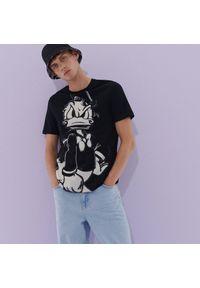 Reserved - Koszulka z Kaczorem Donaldem - Czarny. Kolor: czarny. Wzór: motyw z bajki