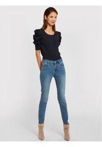 Morgan Jeansy 201-POM.P Niebieski Slim Fit. Kolor: niebieski