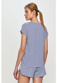 Lauren Ralph Lauren - Piżama. Kolor: niebieski. Materiał: materiał. Długość: krótkie