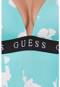 Guess - Strój kąpielowy. Kolor: turkusowy