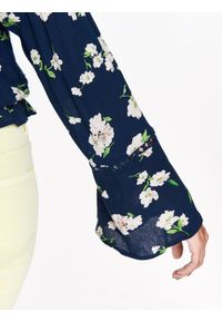 Niebieska bluzka TROLL z krótkim rękawem, długa, w kolorowe wzory, na zimę #8