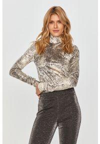Srebrny sweter Pinko na co dzień, casualowy, długi