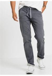 Dżinsy dresowe Slim Fit Straight bonprix szary denim. Kolor: szary