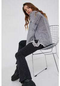 Answear Lab - Koszula jeansowa. Kolor: szary. Materiał: jeans. Długość rękawa: długi rękaw. Długość: długie. Styl: wakacyjny