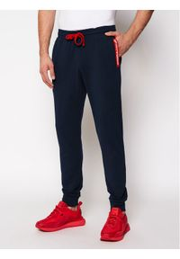 Niebieskie spodnie dresowe Emporio Armani Underwear