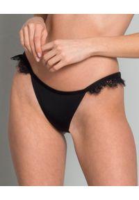 BEACH BUNNY - Dół od bikini. Kolor: czarny. Materiał: materiał, koronka. Wzór: koronka