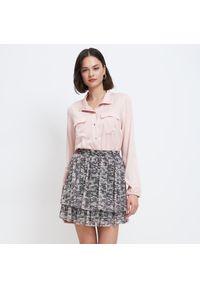 Różowa koszula Mohito ze stójką