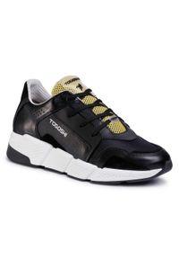 Czarne sneakersy Togoshi z cholewką, na co dzień