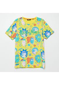 Cropp - Koszulka z nadrukiem Rick and Morty - Żółty. Kolor: żółty. Wzór: nadruk