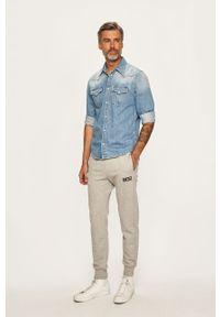 Szare spodnie dresowe Diesel melanż #4