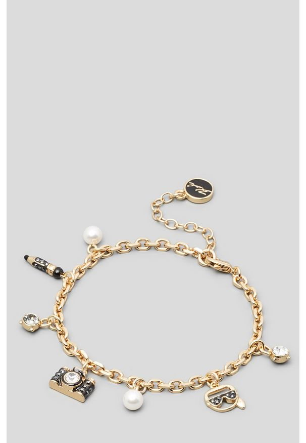 Złota bransoletka Karl Lagerfeld metalowa
