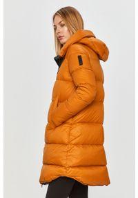 Pomarańczowa kurtka Bomboogie na co dzień, z kapturem, casualowa