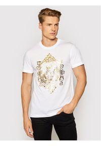 Versace Jeans Couture T-Shirt 71GAHF05 Biały Regular Fit. Kolor: biały