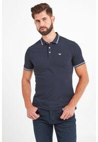 Koszulka polo Emporio Armani sportowa, w jednolite wzory