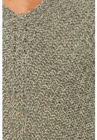 Miętowy sweter Jacqueline de Yong z okrągłym kołnierzem, długi, z długim rękawem