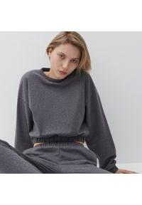 Reserved - Bluza z bawełny organicznej - Szary. Kolor: szary. Materiał: bawełna