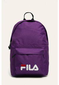 Fioletowy plecak Fila z nadrukiem