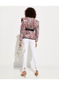 ISABEL MARANT - Kurtka ze wzorem Janissa. Kolor: czerwony. Materiał: bawełna. Długość: długie. Wzór: kolorowy, aplikacja, nadruk