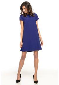 Niebieska sukienka wizytowa Tessita wizytowa