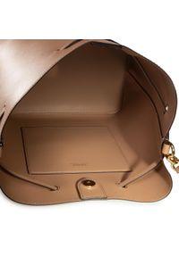 Beżowa torebka worek Lauren Ralph Lauren casualowa