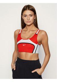 Biustonosz sportowy Nike w kolorowe wzory