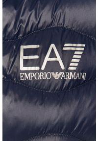 Niebieska kamizelka EA7 Emporio Armani bez kaptura, casualowa, na co dzień
