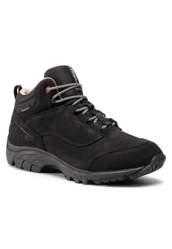 Haglöfs - Trekkingi HAGLÖFS - Kummel Proof Eco Winter Men 498590 True Black. Kolor: czarny. Materiał: skóra, nubuk. Szerokość cholewki: normalna. Sport: turystyka piesza